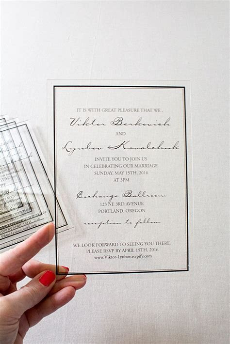 Top 5 Acrylic Wedding Stationery   ACRYLIC INVITATIONS