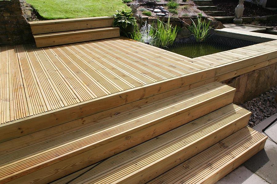 timber deck pod