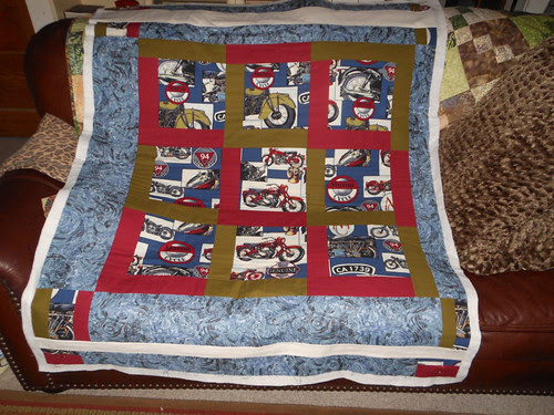 Motorcycle charity quilt by capitolaquilter