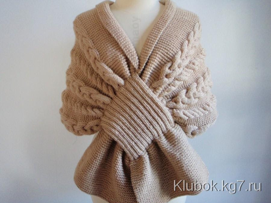 Unusual scarf cape