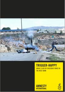Cover of Amnesty International's report about the IDF. Photo: Screenshot / Haim Schwarczenberg.