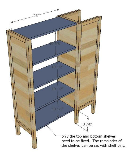 Ana White | Build a Dresser Bookshelf Support for Cabin Bunk ...