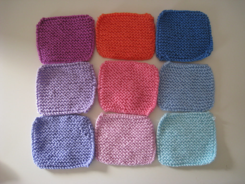 Garter stitch squares