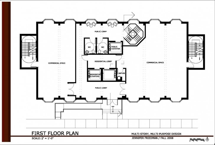 Marvelous 2 Storey Commercial Building Floor Plan Modern House