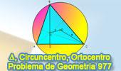 Problema de Geometría 977 (English ESL): Triangulo Acutángulo, Circuncentro, Ortocentro, Altura, Circunradio, Relaciones Métricas