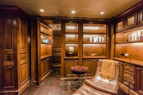Home Theater with Secret Room   Craftsman   Wine Cellar   San Francisco   by SoundVision