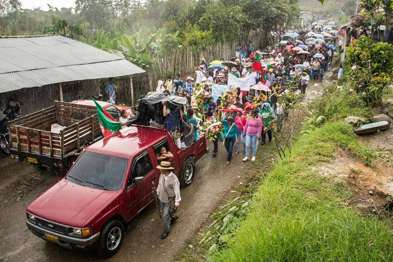 The strike of rural and agricultural workers is taking place throughout Colombia, with demonstrations and pickets shutting down several parts of the Pan-American highway.