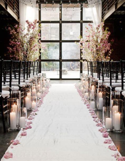 indoor wedding ceremony aisle decor Archives   Weddings