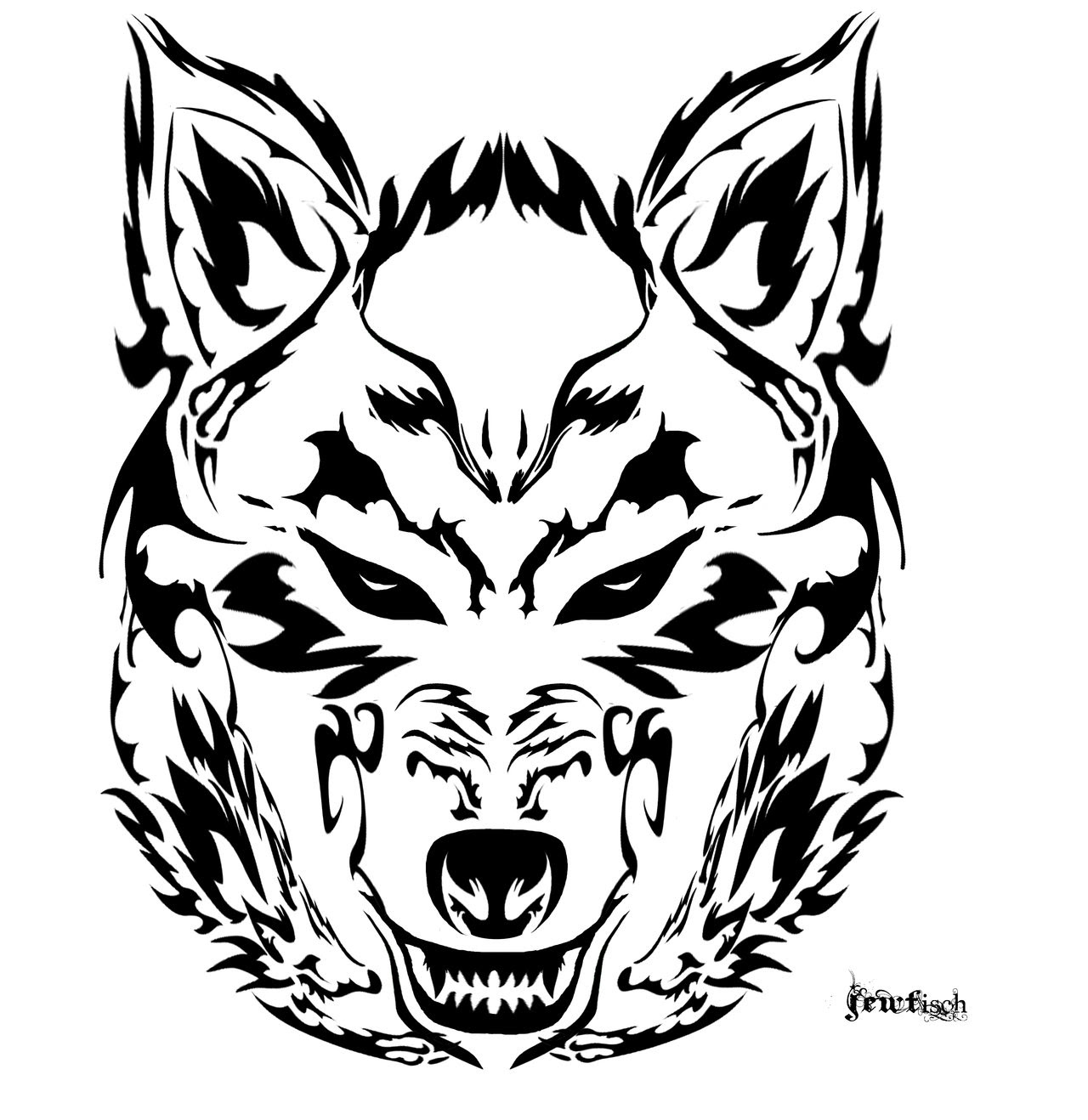 Angry Wolf Face Drawing At Getdrawingscom Free For Personal Use