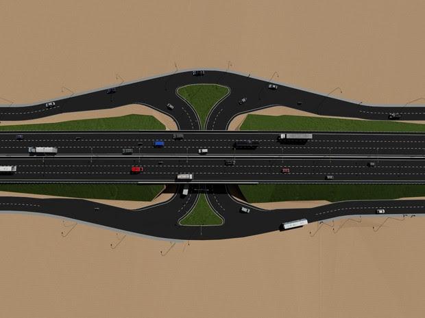 Ao todo, seis túneis e viadutos serão construídos entre Natal e Parnamirim (Foto: Divulgação/ Dnit)