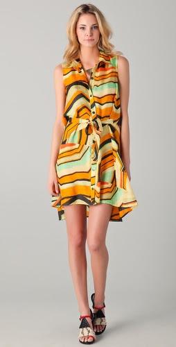 Thakoon Addition Kaleidoscope Print Shirtdress