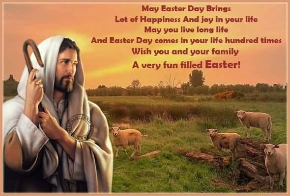 Happy Easter Wishing Card Full Of Blessings Nice Wishes