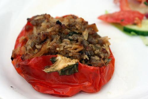 Lamb korma stuff pepper