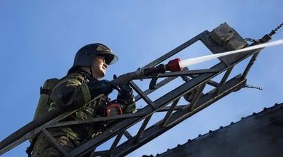 В Ленинградской области произошёл пожар в промзоне