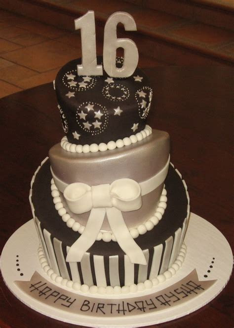 25 best images about Black Silver Gold Cake on Pinterest