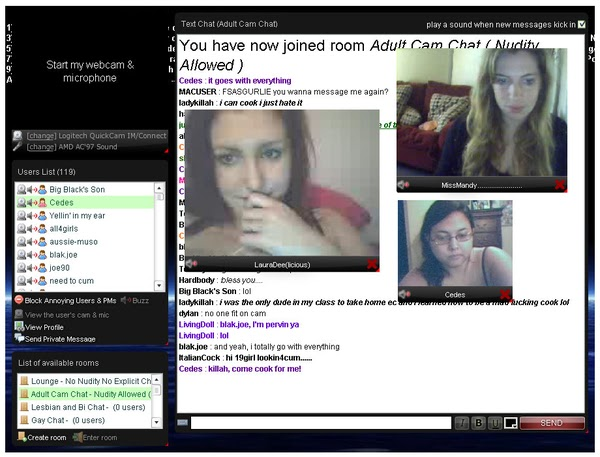 online chat rooms for adults