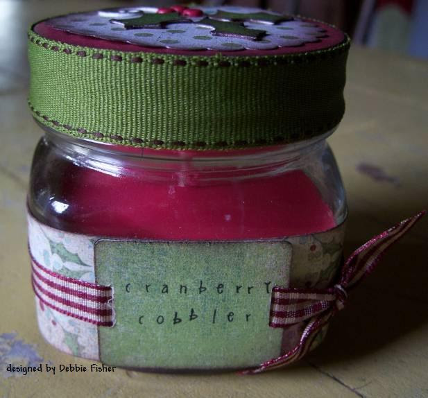 cranberry cobbler candle