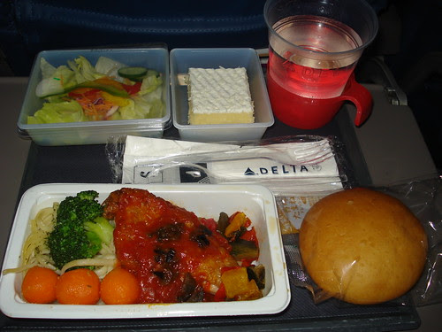 delta airplane food