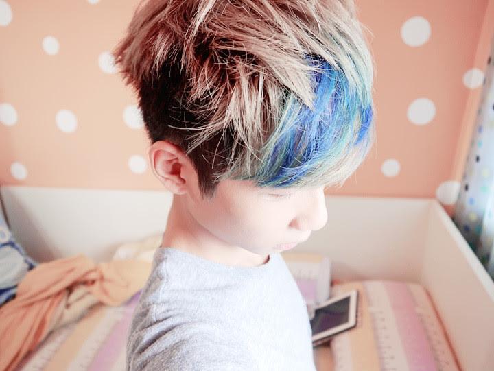 typicalben blue purple highlight hair