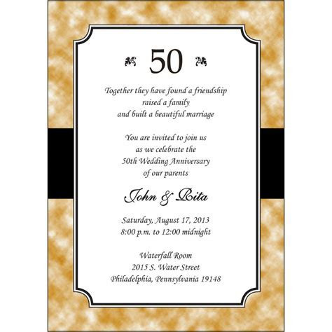 25 Personalized 50th Golden Wedding Anniversary