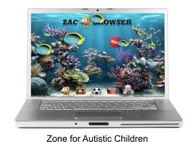 imagen de la pantalla de un ordenador con el navegador zac instalado