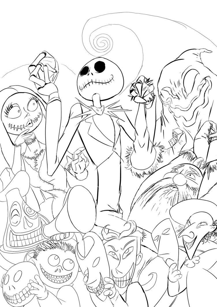 Drawings Of The Nightmare Before Christmas Coloring Pages ...