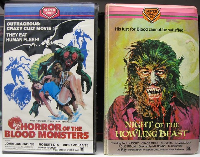 Horror Of The Blood Monsters / Night Of The Howling Beast  (VHS Box Art)