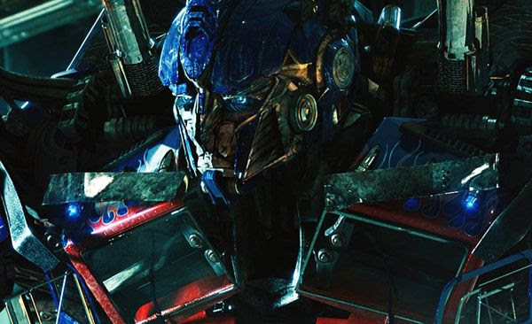 Optimus Prime realizes that Sentinel Prime is a traitor in TRANSFORMERS: DARK OF THE MOON.
