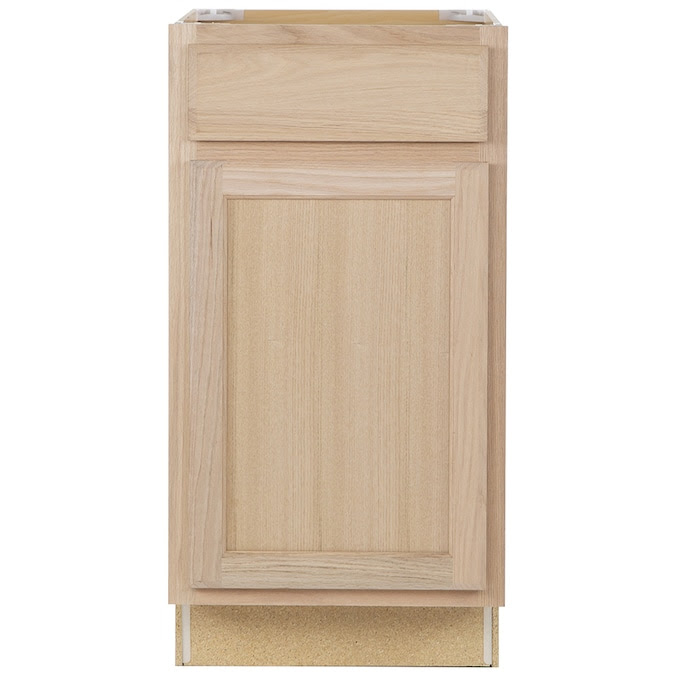 Project Source 18 In W X 35 In H X 23 75 In D Natural Unfinished Door And Drawer Base Stock Cabinet In The Stock Kitchen Cabinets Department At Lowes Com