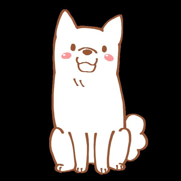 白い犬のイラスト かわいいフリー素材が無料のイラストレイン