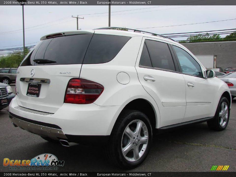 2008 Mercedes-Benz ML 350 4Matic Arctic White / Black ...