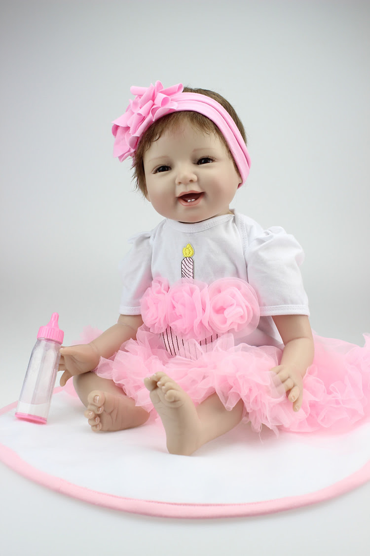 Hot Sale Solid Silicone Reborn Baby Dolls Wholesale Lifelike Baby