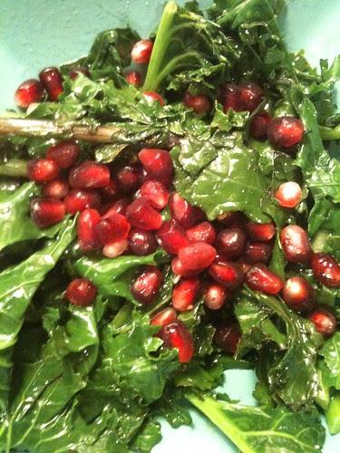 Krispy Kale & Pomegranate Warm Salad by Ayala Moriel