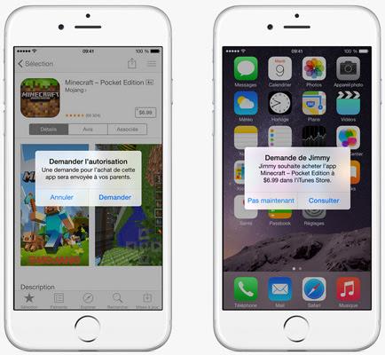 Partage familial iOS 8