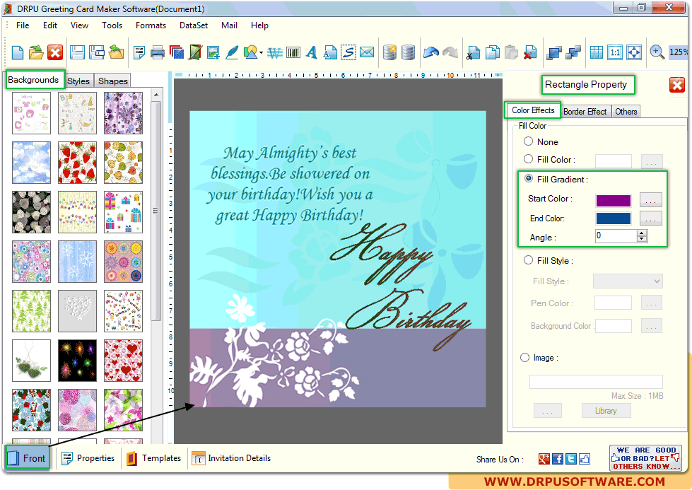 Birthday Card Maker Software Free Download Card Design Template