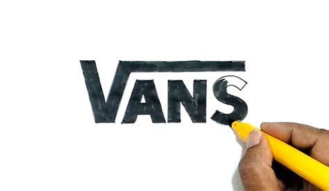 learn   draw  vans logo   step  step