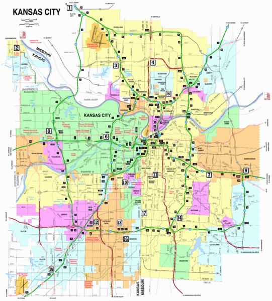 Kansas And Missouri Map Googlesagy