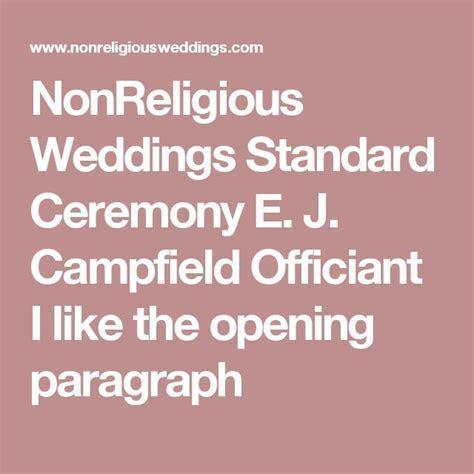Best 25  Non religious wedding ceremony ideas on Pinterest