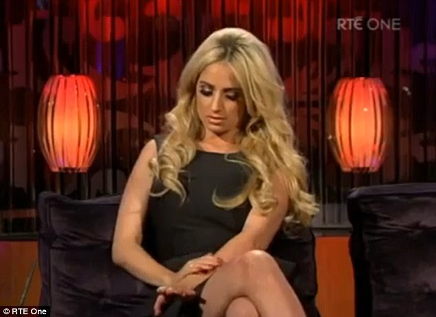 Upset: Chantelle looked uncomfortable throughout the interview on the Irish chat show