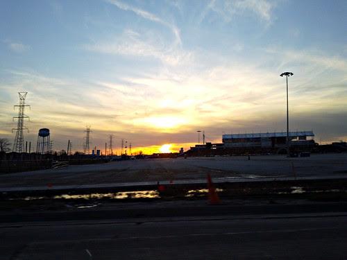 2010-03-22 18.53.21 Bridgview, IL Toyota Park stadium sunset