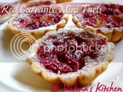 Red Currants Mini Tarts ~ Padma's Kitchen