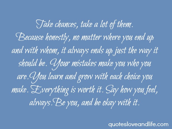 Take Chances Take A Lot Of Them Happiness Quote Quotespicturescom