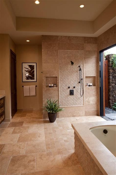 hualalai earthy haven tropical bathroom hawaii