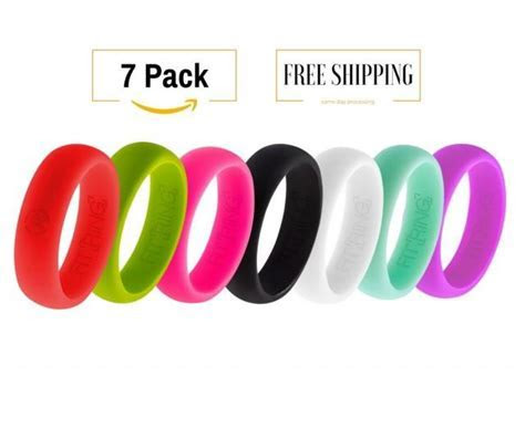 7 Silicone Wedding Rings For Women Athletic Flexible