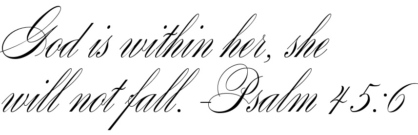 God Is Within Her She Will Not Fall Psalm 456 Free Tattoo