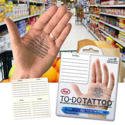 to-do list temporary tattoo for plam of hand