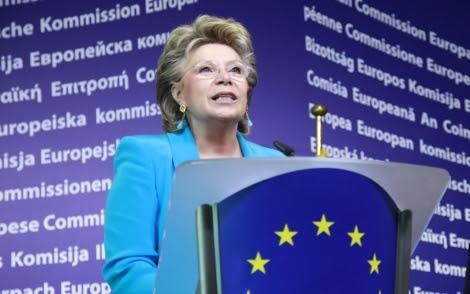 La comisaria europea de Justicia, Viviane Reding.   Efe