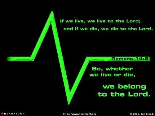 Inspirational illustration of Romans 14:8