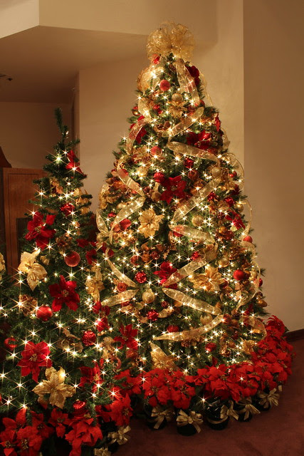 red and gold christmas tree with jeweled fruit flickr photo red and gold christmas tree decorations flickr photo sharing gold and red - Red And Gold Christmas Tree Decoration Ideas