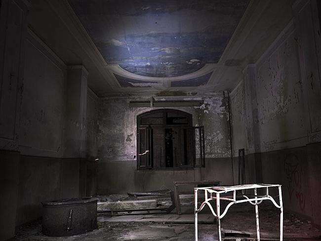 The chapel ... inside the mental asylum at night. Picture: Ella Pellegrini